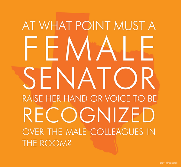 I #StandwithWendy and all Texas women, even those with whom I disagree.