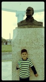 A curious young fellow who posed for a photo with Ernest in Cojimar, Cuba. January 2015