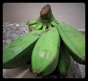 Start with very green plantains