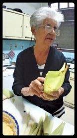 Tia Menita making Cuban tamales. How many tamales have those hands made?