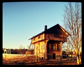 House in the sunset